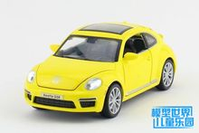 1 PC 14.5cm Jia industry alloy toys 1:32 Volkswagen beetle car model Four open the door Acousto-optic version boys gifts(China)