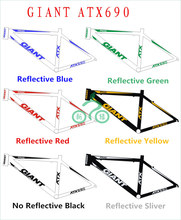 Reflective Frame stickers for Giant ATX 690 Road bike mountain cycling sticker MTB bicicleta bicycle wheels fork decal bisiklet(China)