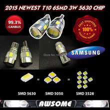 2x High Power 3W T10 Car Interior Dome License Plate Singal Width Light White SAMSUNG LED CANBUS 10SMD 5630 5730 Lens Projector
