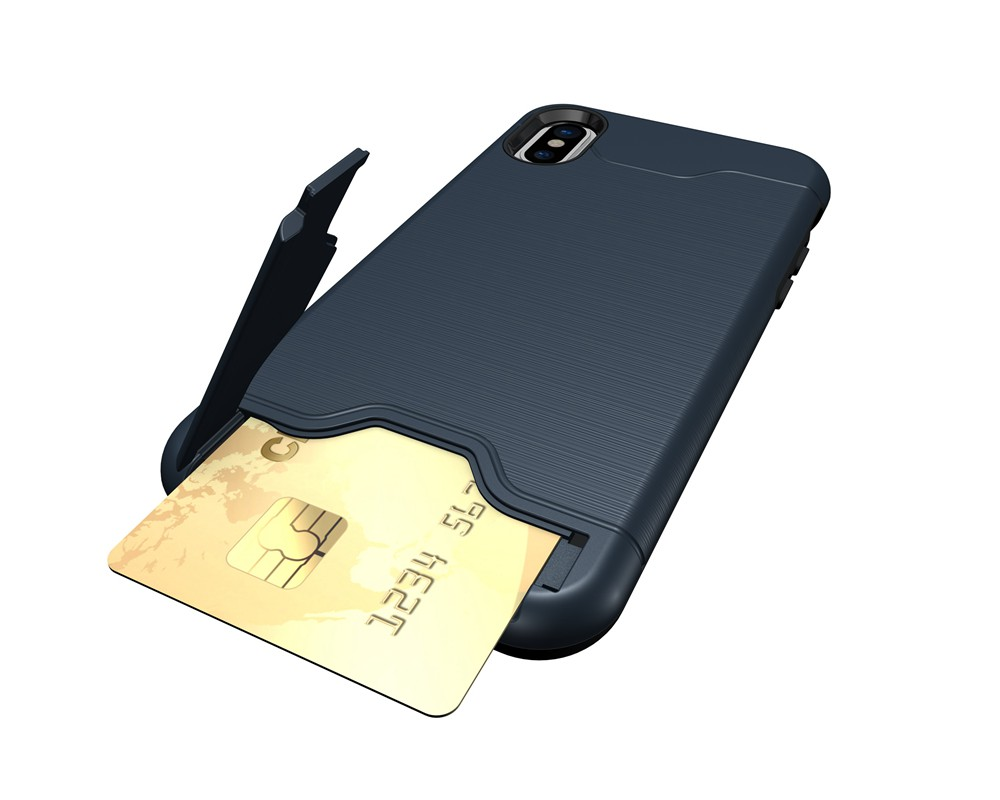 KEYSION Case For iphone X Shockproof cover for iPhone X Kickstand Armor Phone Bag Cases For iphone 10 Card Holder Coque 14