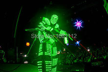 LED robot Costume / LED Costume /LED Clothing/Light suits/ LED Robot suits/ david guetta robot(China)