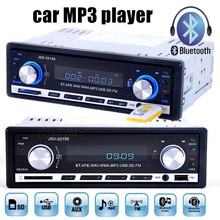 1Din 12V Car Stereo Audio In-Dash FM Aux Input SD USB MP3 Player bluetooth function music phone Car Radio remote control(China)