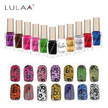 Buy LULAA 6ml Stamping Nail Polish 12 Colors Stamp Nail DIY Stamping Nail Lacquer Christmas Nail Art Painting Printing Varnish for $1.03 in AliExpress store