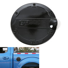 BBQ@FUKA 1x Auto Black Gas Door Cover Fuel Tank Oil Cap Trim ABS Car Styling Sticker Fit For Ford F150 2015-2016 Car Accessory