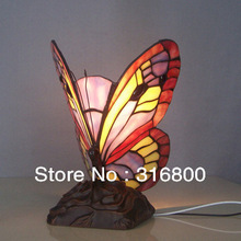 Tiffany Butterfly Nightlight Glass creative children's room lighting Bedroom Bar Decorations Personality lamp