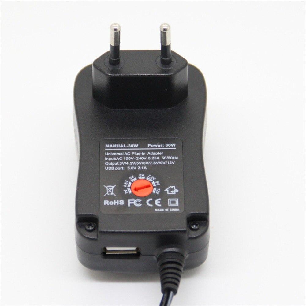 300mA Universal Netzteil 3V 4,5V 5V 6V 7,5V 9V 12V AC//DC USB 9 Adapter Stecker