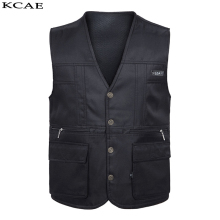 Free shipping 2016 new arrive photography vest male V collar Pocket canvas wedding tooling reporter director promotion vest