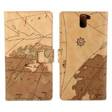 For Oneplus one one plus one OA0001 World Map Wallet Cover Flip Leather mobile Phone Bags Protective Cases(China)