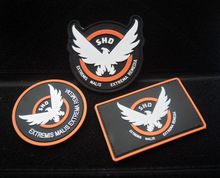 3pc/lot the division SHD patches game cosplay PVC rubber patches Military morale tactical patches armband for bag jacket(China)