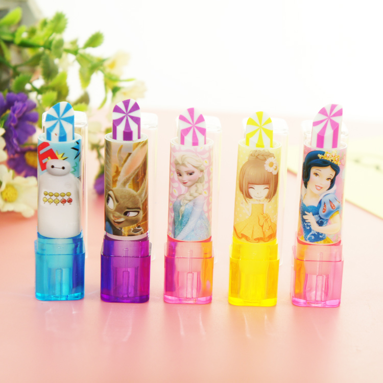 South Korea creative stationery wholesale stationery eraser cute cartoon lipstick package mail prize for students(China (Mainland))