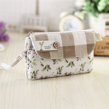 Women cotton long organizer wallets female small phone money pouches coin purse bags bolsas carteiras femininas bolso for girls