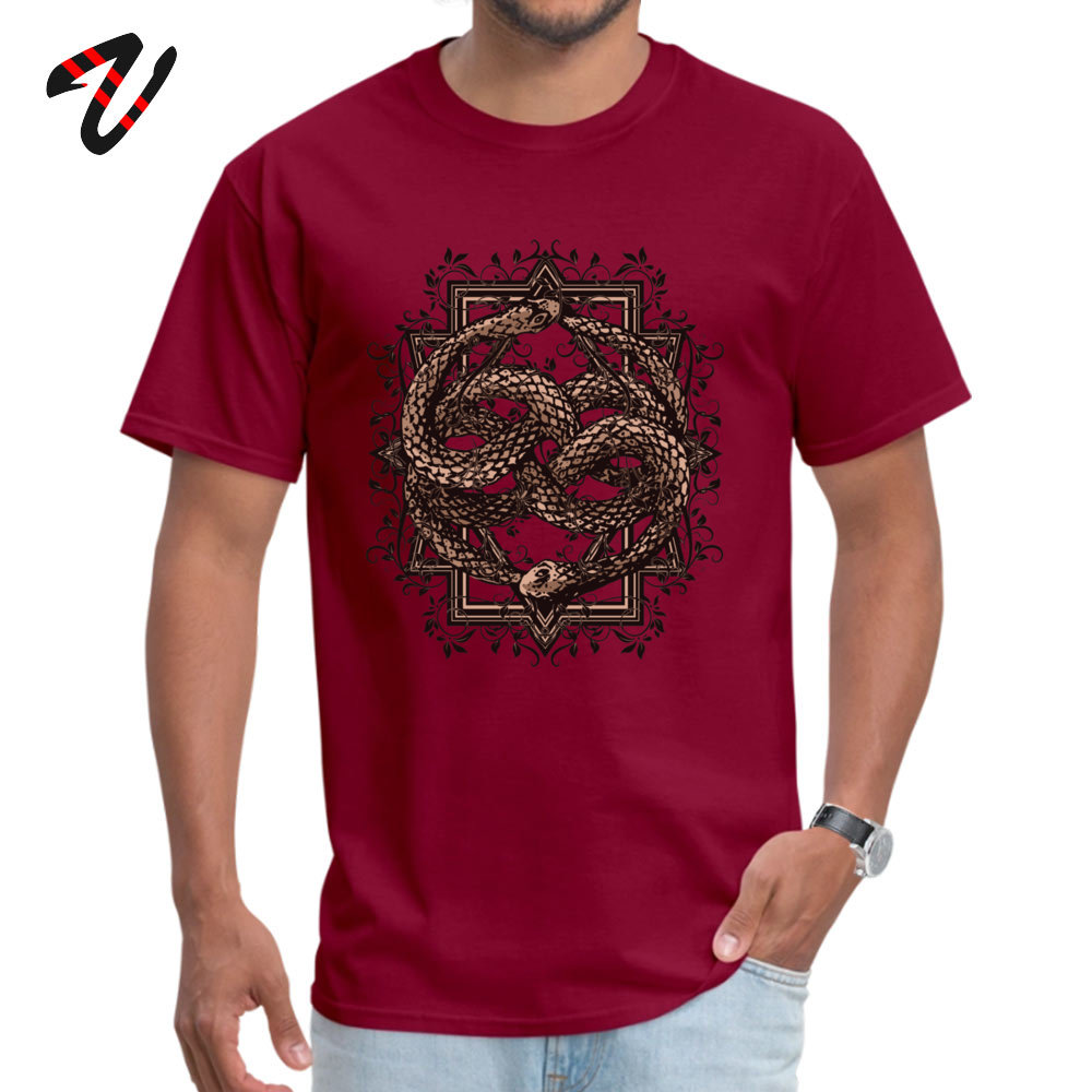 Printed On 100% Cotton Fabric Camisa T Shirt Dominant Short Sleeve Men Top T-shirts Normal Labor Day T-shirts Round Neck Life is a NeverEnding story -10385 maroon