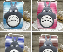 1PIECE Random Color , Kawaii 19*13CM Cat Totoro - Gift Canvas Kid's Neck Satchel Backpack ; Neck Shoulder BAG Pouch(China)