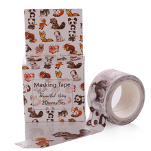 Lovely Animals Washi Tape DIY Masking Paper Tape Decorative Sticker Tape School Office Photo Frame Supply Papelaria 20mm*5m