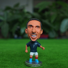 Kodoto Soccer Doll National Series 6.5*3.5 cm Size Resin France 7 Franck Ribery Mini Figure Office Doll in blue kit Collections