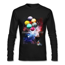 Autumn Winter Men T Shirts Long Sleeve Spaceman Side Job tshirt Popular Brand 3D Print Tee Shirts Mens 2XL(China)