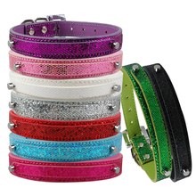 MOQ: 5pcs 9 Colors 4 Sizes Personalized Leather Dog Cat Puppy Pet Collars For 10 mm Letters and Charms