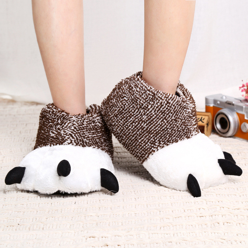 pear paw slippers brown