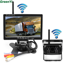 Car Parking Assistance System 2.4 GHz Wireless Rear View Camera + 2.4 GHz Wireless 7 inch Car Monitor Fit For Auto Truck Van Bus