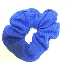 Women Elastic Hair Bands Blue Rope white girls Headband Scrunchie Rubber Band cotton blends kids Hair Accessories(China)