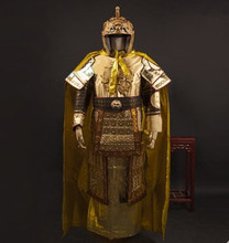gold armor costume for men ancient dynasty chinese armor costume chinese general costume warrior cosplay