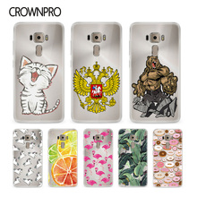 CROWNPRO 5.2 inch Soft Silicone Case For Asus Zenfone 3 Cover Cases Back FOR ASUS Zenfone 3 ze520kl Phone Protector Case