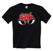 man t shirt Rockin' At 50 Cool Sunglasses Happy 50th Birthday Fifty Mens T-Shirt
