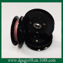 Ceramic wire guide pulley