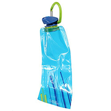 Buy 1pc 700 ML Foldable reusable water bag Drink bottle Free BPA Bicycle bottle Blue for $1.25 in AliExpress store
