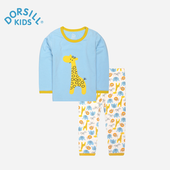 Dorsill Enfants de Pyjama Nouvelle Mode Enfants Set Printemps et Automne pour Garçon Coton Enfants Long John Chaud et Doux Filles de nuit