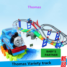 Hotsale Thomas And Friends Motorized Battery Train Variety track Orbital Electric Train Rail Car Baby Children Toy Gift Kids Toy(China)