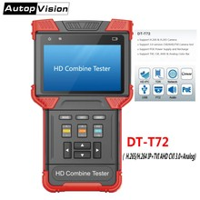 H.265/H.264 IP Camera Tester CCTV Tester Monitor DT-T72 4.0 Inch HD Combine Tester Support 3.0 CVI TVI AHD&Analog Camera Testing(China)