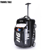 TRAVEL TALE 20 inch children car style luggage hot wheels small travel suitcase for kids