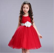 Girl Christmas Dresses 2017 New Girl Wedding Dresses Fashion Kids Flowers Ball Gown Dress Elegant Cute Childrens Belle Clothes