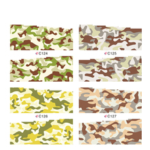 Mix Styles Camouflage & Leopard Water Transfer Decals Designs full cover nail sticker Nail Art Stiker Nail Art  Nail decoration