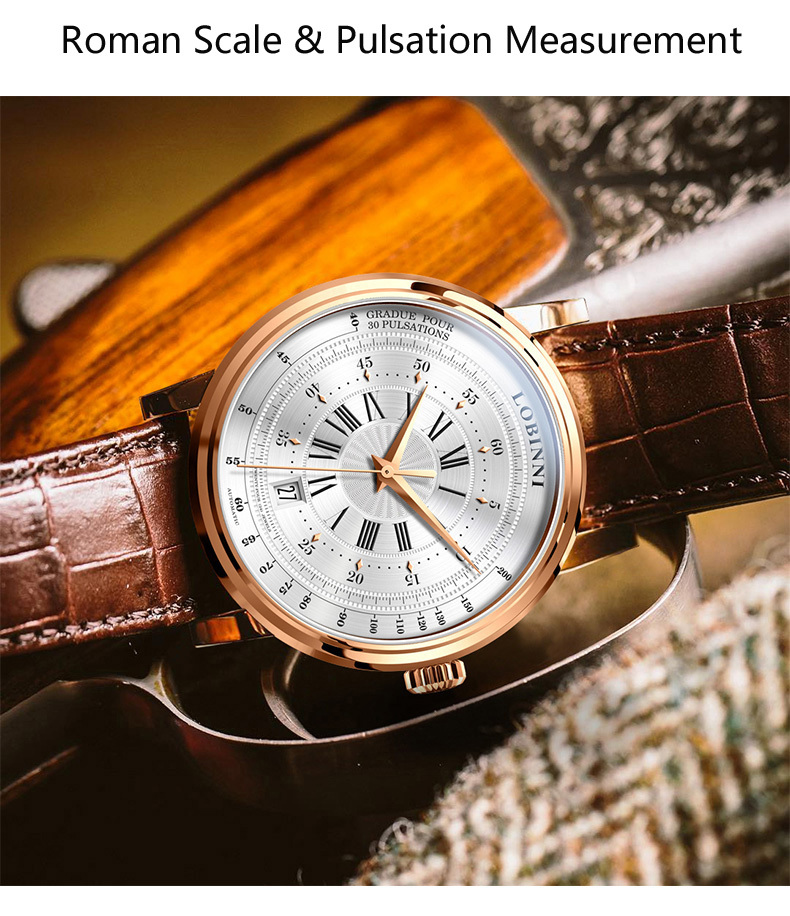 LOBINNI New Men Watches Top Luxury Brand Japan Import NH35A SII O Auto Mechanical MOVT Men's Clock Sapphire reloj hombre L1018-8 11