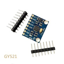 10pcs/lot GY-521 MPU-6050 MPU6050 3 Axis Analog Gyroscope Sensors + 3 Axis Accelerometer Module With Pins 3-5V DC For Arduino