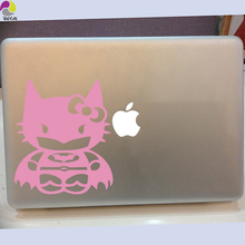 Cartoon Hello Kitty Batman Wall Sticker Baby Nursery Kids Room Cute Cat Bat Anime Decal Car Laptop Bedroom Vinyl Home Decor(China)