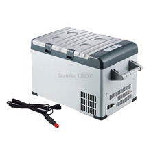 Free Shipping Car Freezer Compressor Portable Icebox Electronic Temperature Control Fridge 25L