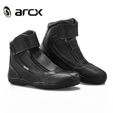 ARCX Motorcycle Boots Genuine Cow Leather Waterproof Moto botas Racing Boots motorboats Chopper Cruiser Touring moto shoes(China)