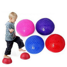 Inflatable Half Sphere Yoga Balls PVC Massage Fitball Exercises Trainer Balancing Ball Gym Pilates Sport Fitness Balls BB55