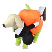2016 New Funny Dog Costumes Halloween Novel Pumpkin Pet Coat Fleece Small Dog Super Cute Costumes Fancy Pet Clothes
