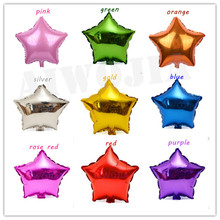 25pcs 18 inch Five-Pointed Star Shaped Foil Balloons Helium pure color Balloons wedding birthday decor Inflatable globos toys 5Z(China)