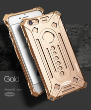 "For iPhone 6 6s Plus 5.5"" Case 2 in 1 Luxury Aluminum Metal Overbearing ARMOR Cover Screw Big Retail Box Fashion Cool Hot Sale(China)"