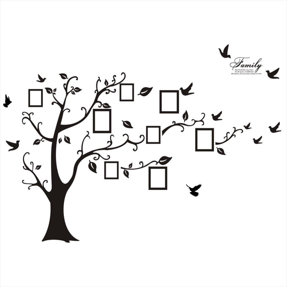 на стену дерево с фотографиями