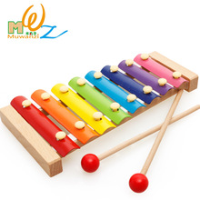 Children early education music educational toys wooden octave piano knocking piano 1-2-3-6 years old(China)