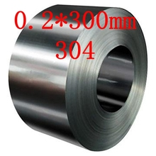 0.2*300mm 0.2mm thick,300mm width, authentic 304 stainless steel strip,real SS tape(China)