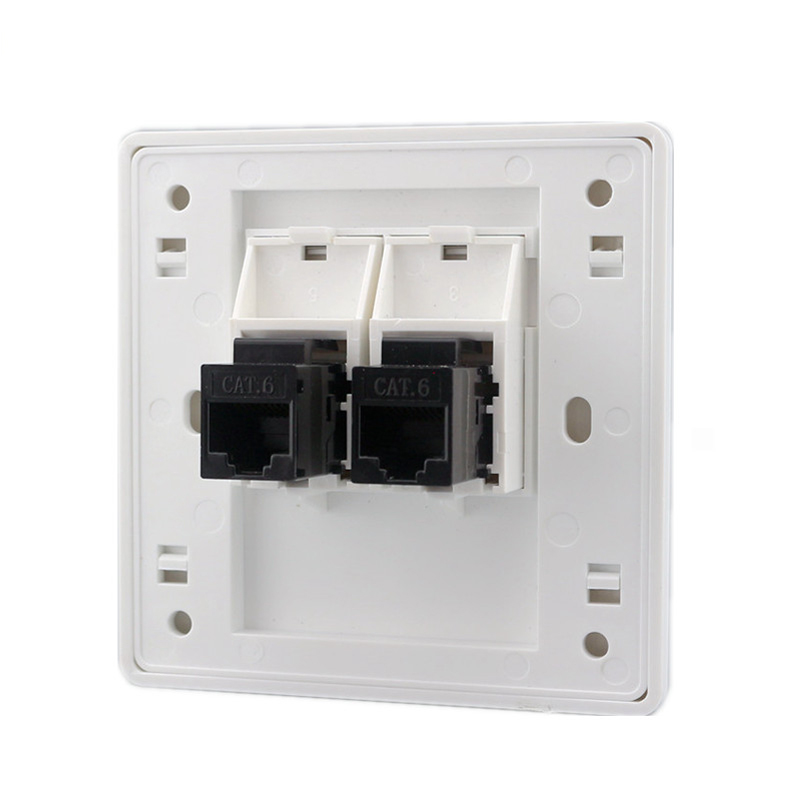 2 Ports CAT6 RJ45 Wall Outlet pic 6