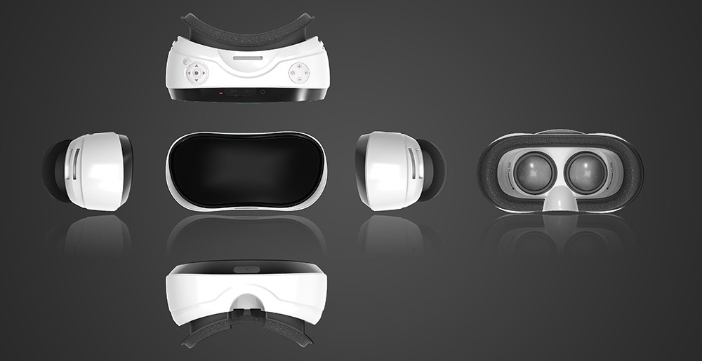 """VR Headset, All-in-one WiFi Virtual Reality 3D Glasses VR Box 90 FOV 2GB / 16GB Android 5.1 5.5 """"TFT Screen 1080P FPS 3D AU29"""