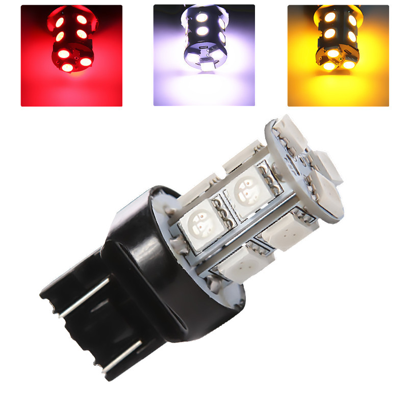 7443 7440 13 SMD 5050 Pure White Amber Yellow RED LED Car Bulb Auto w21/5w led car bulbs rear brake Lights parking<br><br>Aliexpress